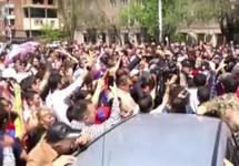 """Протест в Ереване, 26.04.2018. Кадр видео """"Радио Азатутюн"""""""