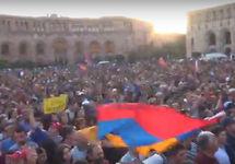 Митинг оппозиции в Ереване, 26.04.2018. Кадр трансляции