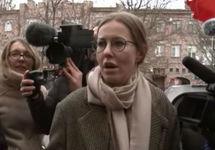 Ксения Собчак в Грозном. Кадр видео с YouTube-канала журналистки