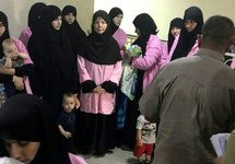 Багдад: осужденные жены джихадистов. Фото AFP