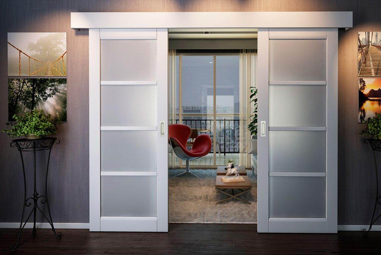 Раздвижные двери с современном интерьере