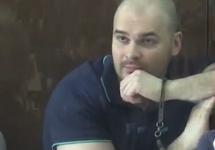 Максим Марцинкевич (Тесак) на оглашении приговора. Кадр трансляции Life