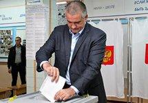 Сергей Аксенов на выборах 18.03.2018. Источник: 24tv.ua