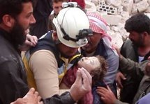 После российского налета на Накир. Фото: твиттер @SyriaCivilDefe