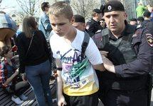 Задержание подростка в Москве, 05.05.2018. Фото: твиттер @oksana_baulina