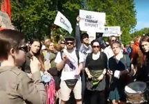 Митинг против пыток в Петербурге. Кадр Sotavision