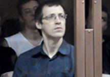 Леонид Ковязин в стеклянной камере Мосгорсуда. Фото Ники Максимюк/Грани.Ру