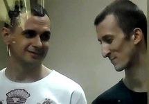 Олег Сенцов и Александр Кольченко на оглашении приговора. Фото Игоря Хорошилова/Грани.Ру