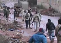 Наступление повстанцев в городе Деръа, февраль 2017. Кадр Qasioun