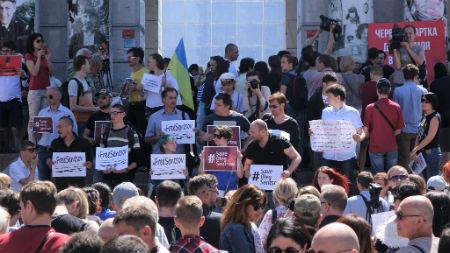 Продолжается всемирная акция в поддержку Сенцова
