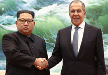 Ким Чен Ын и Сергей Лавров. Фото: mid.ru