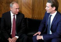 Владимир Путин и Себастьян Курц. Фото: kremlin.ru