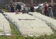 Акция у посольства России в Гааге. Кадр видео NOS