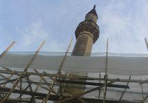 Большая ханская мечеть в строительных лесах. Фото Александры Ефименко