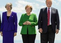 Тереза Мэй, Ангела Меркель и Дональд Трамп. Фото: @#G7Charlevoix/flickr.com