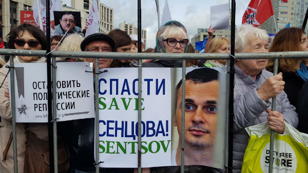 Москва: митинг против репрессий собрал около тысячи участников