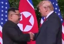 Ким Чен Ын и Дональд Трамп. Кадр CNN