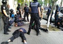 Задержанные националисты. Фото: unian.net