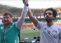 "Рамзан Кадыров и Мухаммад Салах. Кадр ""России-1"""