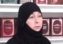 Зарема Багавутдинова. Кадр видеообращения
