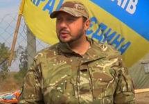 Николай Дадеу на границе с Крымом во время блокады. Фото: novosti-n.org
