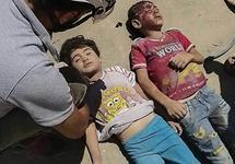 Дети, погибшие при налете на Саиду. Фото: твиттер @SyriaCivilDef