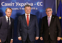Дональд Туск, Петр Порошенко и Жан-Клод Юнкер. Фото: president.gov.ua