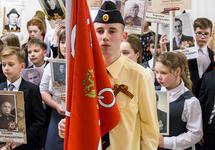 Празднование дня победы над Германией во 2-й петербургской гимназии, 2018. Фото: 2spbg.ru