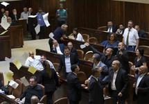 Кнессет: протест арабских депутатов. Фото: ynetnews.com