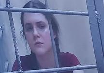 Анна Павликова на видеосвязи с Мосгорсудом. Фото Юрия Тимофеева/Грани.Ру