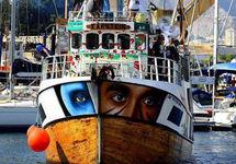 """Корабль """"Аль-авда"""". Фото из твиттера @GazaFFlotilla"""