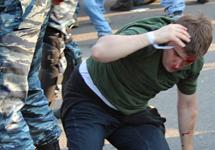Избиение Алексея Гаскарова. Кадр видеозаписи