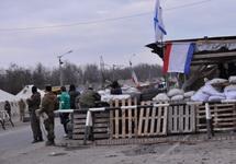 Блокпост российских оккупантов на границе Крыма и Херсонской области, март 2014. Фото: vesti.ua