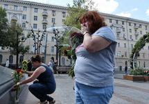 Участницы флешмоба в поддержку Сенцова. Фото: novayagazeta.ru