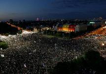 Демонстрация в Бухаресте, 10.08.2018. Фото: euronews.com
