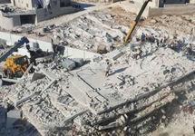 Обломки взорванного дома в Сармаде. Фото из твиттера @SyriaCivilDef