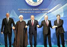 """Лидеры стран """"каспийской пятерки"""". Фото: kremlin.ru"""