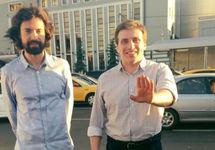 Игорь Зубер и Александр Каргин (справа) после опроса в ЦПЭ. Фото: ФБ-страница Каргина