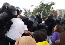 Разгон сидячей акции в Кишиневе. Кадр видео