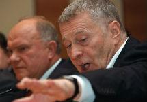 Геннадий Зюганов и Владимир Жириновский. Фото с сайта Сибновости.Ру