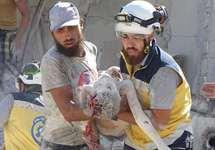 После бомбежки Джиср-эш-Шугура, 04.09.2018. Фото: твиттер @SyriaCivilDef