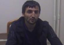 Меджид Магомедов дает показания. Кадр съемки ФСБ