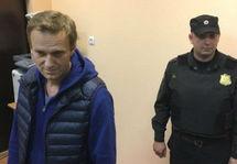 Алексей Навальный в суде. Кадр Deutsche Welle