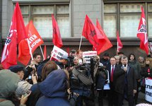 Митинг против пенсионной реформы у Госдумы, 26.09.2018. Фото: твиттер @s_udaltsov