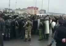 """Разгон митинга в Магасе. Кадр видео с телеграм-канала """"Ингушетия_2018"""""""