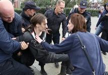 Задержание на митинге 09.09.2018 в Челябинске. Фото: 74.ru