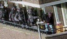 Операция по задержанию террористов. Кадр полицейской съемки
