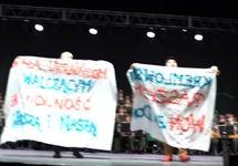 В Польше на концерте ансамбля Александрова устроили акцию против российской агрессии на Украине